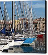 Colors In The Port Canvas Print by John Rizzuto