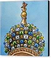 Colors Of Russia St Petersburg Cathedral IIi Canvas Print by Irina Sztukowski