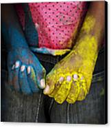 Coloured Hands Canvas Print by Tim Gainey