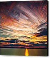 Colourful Cloud Collision Canvas Print