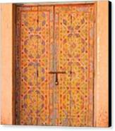 Colourful Entrance Door Sale Rabat Morocco Canvas Print by Ralph A  Ledergerber-Photography