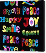 Colourful Words Canvas Print by Tim Gainey