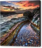 Colours Of Dawn Canvas Print by Mark Leader
