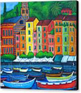 Colours Of Portofino Canvas Print by Lisa  Lorenz