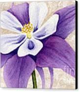 Columbine In Violet Canvas Print by Vikki Wicks