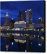 Columbus City At Twlight Canvas Print by Dick Wood