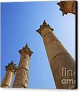 Columns At The Temple Of Artemis At Jerash Jordan Canvas Print by Robert Preston
