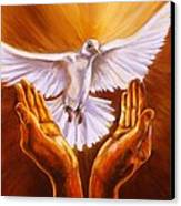 Come Holy Spirit Canvas Print by Carole Powell