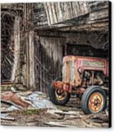 Comfortable Chaos - Old Tractor At Rest - Agricultural Machinary - Old Barn Canvas Print