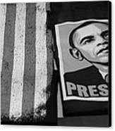 Commercialization Of The President Of The United States Of America In Black And White Canvas Print