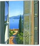 Como View Canvas Print