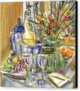 Compliments Of Blondie N. Canvas Print