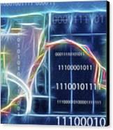 Computing - Fractalius 2 Canvas Print by Steve Ohlsen