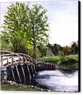 Concord Bridge Canvas Print