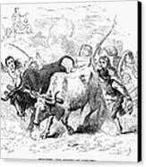 Concord: Evacuation, 1775 Canvas Print by Granger