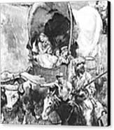 Conestoga Wagons 1890 Canvas Print by Padre Art