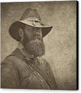 Confederate General Canvas Print by Pat Abbott
