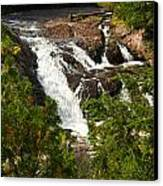 Conglomerate Falls Canvas Print by Thomas Pettengill