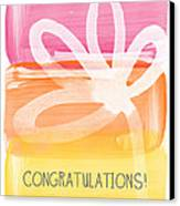 Congratulations- Greeting Card Canvas Print by Linda Woods
