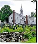 Congregational Church Cemetery Hollis Nh Canvas Print by Janice Drew