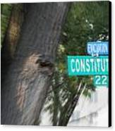 Constitution Ave 2200 Canvas Print by Angelia Hodges Clay