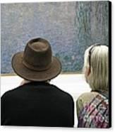 Contemplating Art Canvas Print