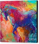 Contemporary Vibrant Horse Painting Canvas Print by Svetlana Novikova