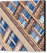 Contrasts - Period Architecture Of Asheville North Carolina Canvas Print by Mark E Tisdale