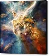 Cool Carina Nebula Pillar 4 Canvas Print by Jennifer Rondinelli Reilly - Fine Art Photography