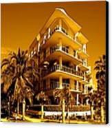 Cool Iron Building In Miami Canvas Print by Monique Wegmueller