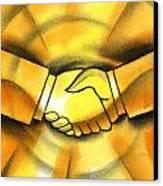 Cooperation Canvas Print by Leon Zernitsky