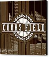 Coors Field - Colorado Rockies 15 Canvas Print by Frank Romeo