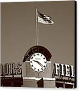 Coors Field - Colorado Rockies 16 Canvas Print by Frank Romeo
