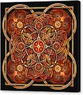 Copper And Gold Celtic Cross Canvas Print by Richard Barnes