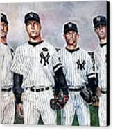 Core 4 Yankees  Canvas Print by Michael  Pattison