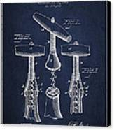 Corkscrew Patent Drawing From 1883 Canvas Print by Aged Pixel