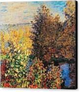 Corner Of Garden In Montgeron Canvas Print