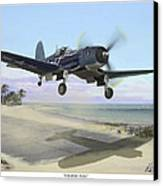 Corsair Takeoff Vf-17 Jolly Rogers Canvas Print