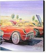Corvette Show Canvas Print