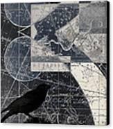 Corvus Star Chart Canvas Print by Carol Leigh