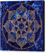 Cosmic Blue Lotus Canvas Print