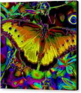Cosmic Butterfly Canvas Print by Rebecca Flaig