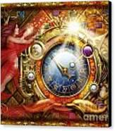 Cosmic Clock Canvas Print by Ciro Marchetti