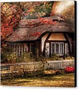 Cottage - Nana's House Canvas Print by Mike Savad