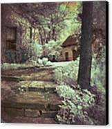 Cottages In The Woods Canvas Print by Jill Battaglia