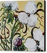 Cotton Triptych Canvas Print by Eloise Schneider