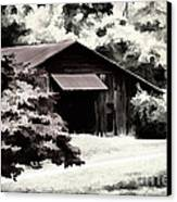 Country Charm In Dramatci Bw Canvas Print