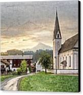 Country Church Canvas Print by Debra and Dave Vanderlaan