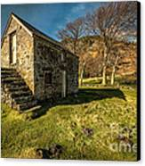 Country Cottage Canvas Print by Adrian Evans