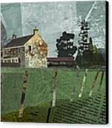 Country Farm Canvas Print by Kenneth North
